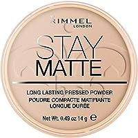 Rimmel - Poudre Compact Stay Matte - Anti-brillance - Fini mat et naturel - 005 Beige soyeux - 14gr