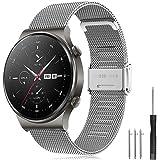 Yaspark Rem Huawei Watch GT2 Pro 46 mm/Galaxy-klocka 3 45 mm/Galaxy-klocka 46 mm/Gear S3 band band rostfritt stål armband 22