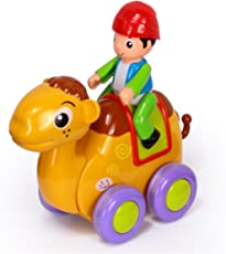 RIANZ Baby Toys Figure Pull Back Cartoon Car Toy Push and Go Friction Powered Animal Cars Fun Toys for Children 1PC (Camel)