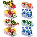 E-Senior Rangement Frigo, Rangement Refrigérateur, Empilable Panier Frigo, Panier de Rangement en Plastique pour Collecte de