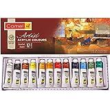 Camel Camlin Kokuyo Acrylic Color Box - 9ml Tubes, 12 Shades