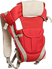 Teeny Weeny Baby Carrier Bag with Hip Seat and Head Support for 4-12 Months WB (Red)