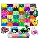 Queta 10000 Pcs Perles à Repasser 36 Couleurs Magique Perles Mini Jouets Artisanat Kit pour DIY Enfants Adultes Décoration Dé