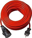 Brennenstuhl BREMAXX Verlängerungskabel (50m Kabel in rot, für den kurzfristigen Einsatz im Außenbereich IP44…