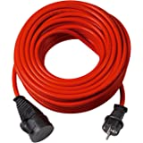 Brennenstuhl 1169830 BREMAXX verlengsnoer (10m kabel in rood, voor kortstondig buitengebruik IP44, stroomkabel bruikbaar tot