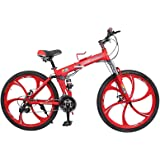 Land Rover 26 Inch V8 Foldable Mountain Bicycle - Red