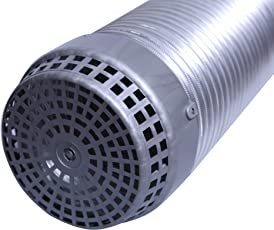 """Seavy 6""""Aluminium Chimney Exhaust Pipe with 6""""PVC Cowl Cover, Expandable Upto 10ft"""