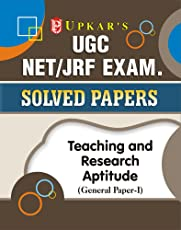 UGC NET/JRF Exam. Solved Papers Teaching & Research Aptitude (General PaperI)