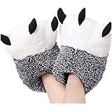 LANFIRE Zapatillas de casa de Felpa Suave Unisex Zapatillas de Garra de Oso Zapatos de Garra de Disfraz de Animal