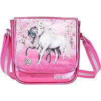 Depesche 11427 Miss Melody - Kleine Umhängetasche mit traumhaftem Pferde-Motiv, pinke Handtasche mit längenverstellbarem…