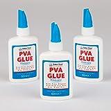 Baker Ross Mini tubes de colle glue PVA lavable (Lot de 3) - Matériel créatif pour enfants