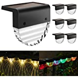 Solar Deck Lights, 6 Pack Solar Step Lights Outdoor Waterproof LED Solar Fence Lights for Patio, Stairs,Yard, Garden Pathway,