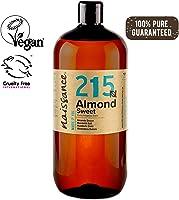 Naissance Mandorle Dolci Puro 1L – Vegan, senza OGM – Ideale per la cura della Pelle e dei Capelli, l'Aromaterapia e...