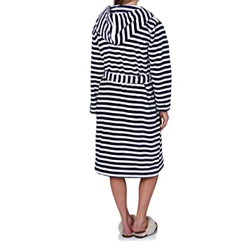 96b0a2f5ae Joules Rita Ladies Dressing Gown (T) - Navy Stripe - L XL  Amazon.co ...