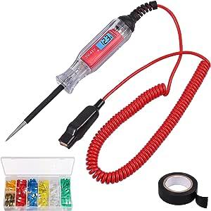 Neoteck Elektrische Draht Circuit Tester 3 48 V Auto Lkw Spannung Sonde Spannung Licht Tester Mit 120 Stücke Auto Auto Standard Blade Sicherung Und Isolierband Auto