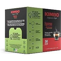 Kimbo Cialde Caffè Compostabili ESE Espresso Napoletano, 5 Pacchi da 50 Cialde (Totale 250 Cialde) + Kit Compostabile…
