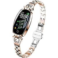 Smartwatch Donna Oro Rosa Braccialetto Donna Acciaio Fitness Tracker Orologio Fitness Impermeabile Orologio Mobile Hd…