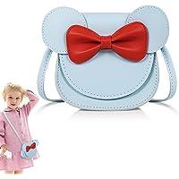 Heyu-Lotus Kinder Umhängetasche Mädchen Nette Maus Ohr Bowknot Handtaschen, PU Leder Umhängetasche für Kinder Mädchen…