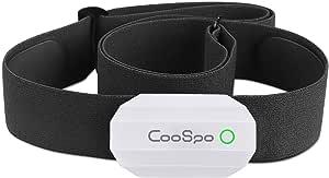 CooSpo Fascia Cardio Cardiofrequenzimetro Fascia Toracica Sensore di Frequenza Cardiaca Bluetooth Ant+ Impermeabile IP67 Compatibile con Wahoo, Zwift, iCardio, DDP Yoga e Altro