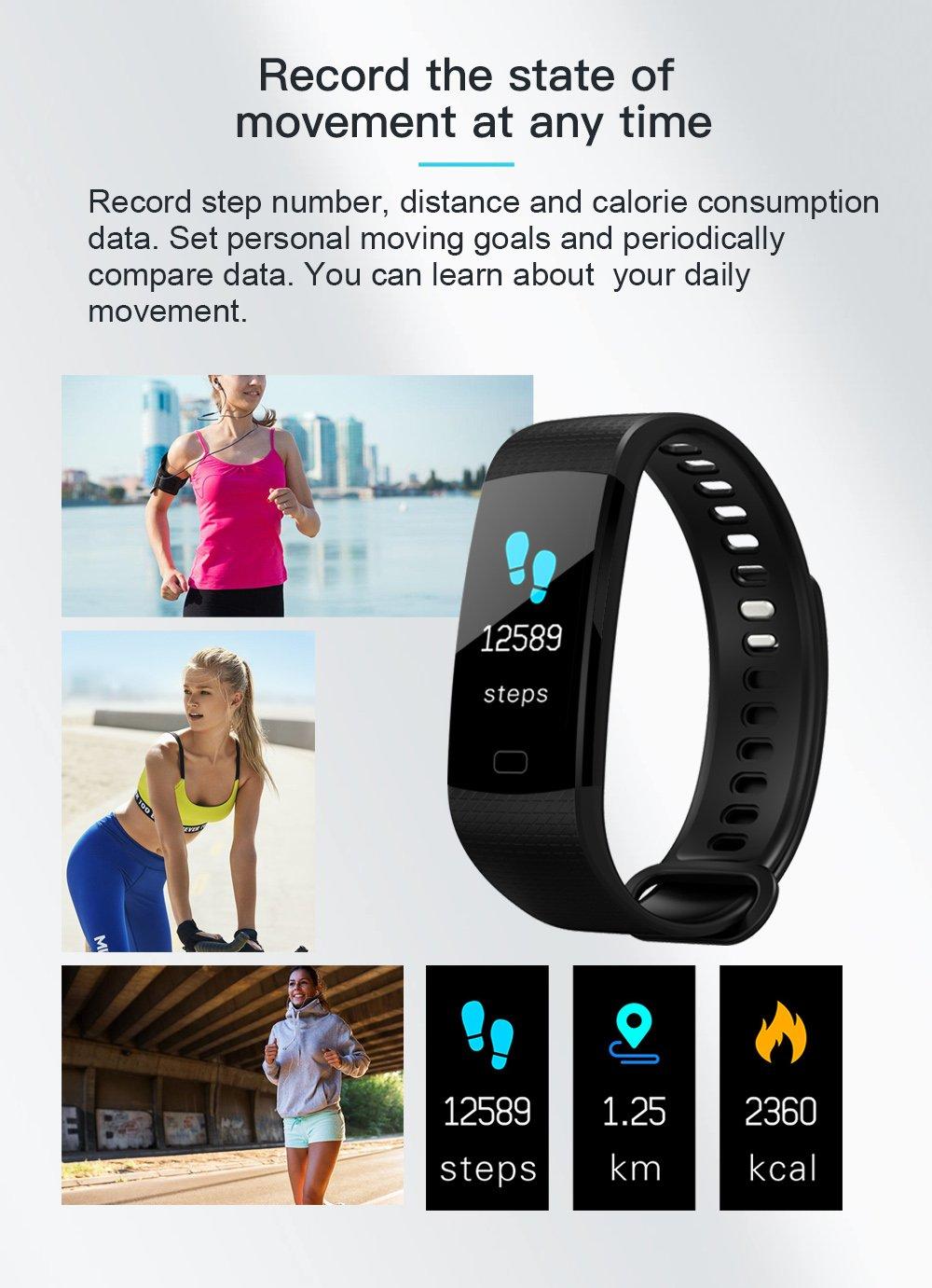 Pulsera Actividad Reloj Inteligente Fitness Tracker Multifuncional Cuenta Pasos CaloríAs, Smartwatch Fitness Tracker Para Hombre Y Mujer 6