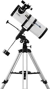 Zoomion Gravity 150/750 EQ Télescope Télescope Réflecteur astronomique avec trépied, Support et oculaires pour Adultes et débutants en Astronomie