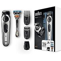 Braun BT5065 Barttrimmer und Haarschneider, 39 Längeneinstellungen, AutoSense-Technologie, Präzisionsscherkopf, schwarz/silber