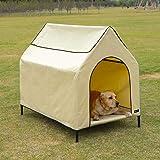Amazon Basics, Cuccia per animali domestici, sopraelevata, portatile - misura L, beige