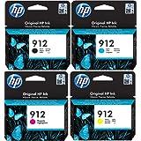 HP – 912 – Lot de 4cartouches d'origine – Pour imprimantes HP Officejet Pro 8010, 8012, 8014, 8015, 8020, 8022, 8023, 8024,