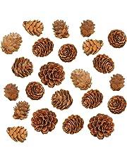 Funpa 200PCS Christmas Pine Cone DIY Creative Natural Christmas Ornament Xmas Decor