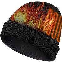Bilisder - Berretto elettrico riscaldato a maglia con 3 livelli di calore, caldo berretto riscaldato per sport all'aria…