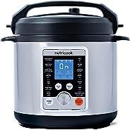 Nutricook Smart Pot Pro+ by Nutribullet - 10 in 1 Electric Pressure Cooker, 6 Liters, 1000 Watts, Silver/Black