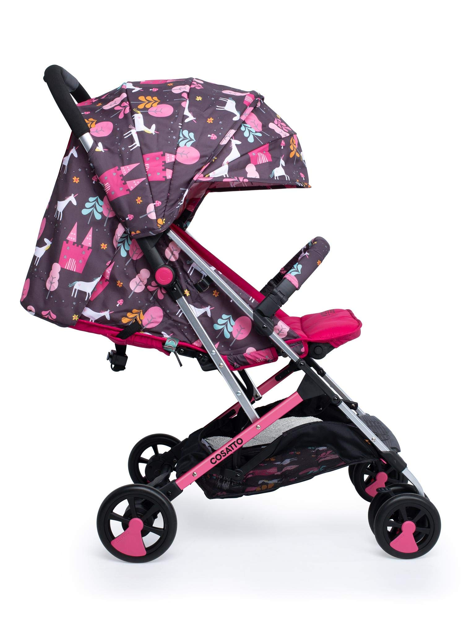 Cosatto CT4224 Woosh 2 Unicorn Land 7.2 kg Cosatto Suitable from birth to max weight of 25kg, lets your toddler use it for even longer Lightweight, sturdy aluminium frame New-born recline 1