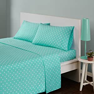 Mi-Zone Polka Dot Printed 100/% Cotton Sheet Set Seafoam Twin Mi Zone MZ20-496