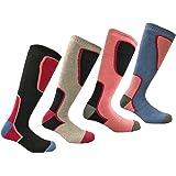 i-Smalls Ski Socken Lot von 4 Thermal High Performance Frauen