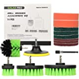 GALAX PRO 14 Pack Drill Brush Attachments Set, Power Scrubber All Purpose Cleaning Brush with Extend Long Attachment for Grou
