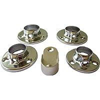 Schmitt-Beschläge Lot de 4 supports de fixation pour tube de 16 mm, 19 mm, 22 mm, 25 mm ou 30 x 15 mm en forme de U…