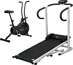 Fitpro Lifeline Treadmill+Lifeline Cycle (Multicolor_Medium)