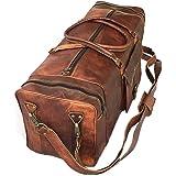 Weekender Leather Travel Bag 80l Quality Vintage Design Ladies Mens Brown Large 72x33x33