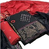 MP Enterprise Women,s cotton silk unstiched rajasthani Bandhani dress material free size