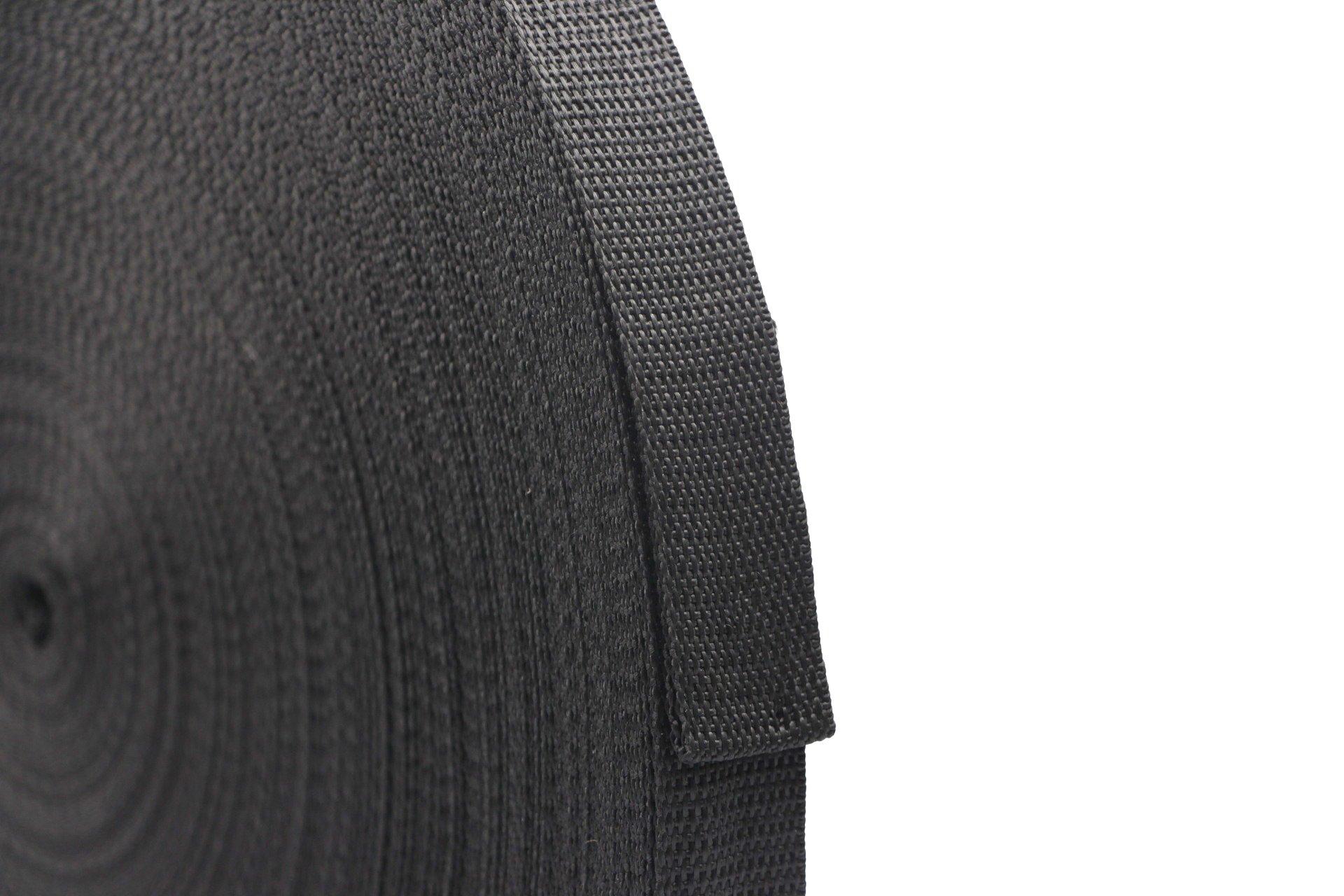 71KxyJqBAJL - RETON 50 Yards Black Nylon Heavy Polypro Webbing Strap (25mm)