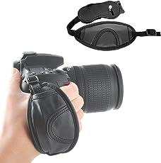Adjustable Padded Camera Wrist Strap Hand Grip Compatible with Nikon Canon Sony Pentax Olympus Panasonic SLR DSLR Cameras