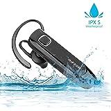 HIFEER Bluetooth Headset, Kopfhörer Kabellos Bluetooth V4.1 Wireless Ohrhörer In Ear Wasserdicht IPX5 Rauschunterdrückung mit Mikrofon für iOS Android Phone