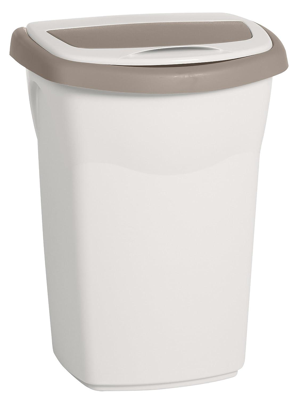 Poubelle plastique 50l petite poubelle pdale avec bac for Poubelle cuisine plastique