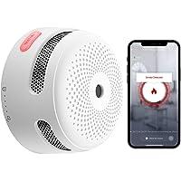 X-Sense Détecteur de Fumée Intelligent avec Pile au Lithium Remplaçable & Bouton Silence, Détecteur de Fumée Wi-Fi…