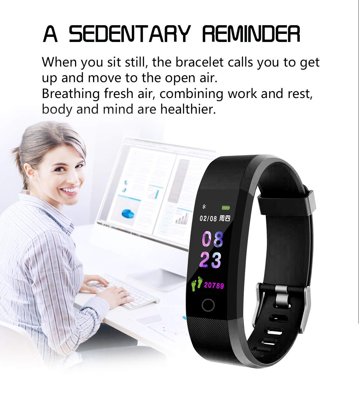 MENGZHEN 1 UNID ID115 Plus Monitor de Actividad del Ritmo cardíaco Pantalla táctil Usable Podómetro Bluetooth Pulsera Inteligente con Monitor de sueño 8