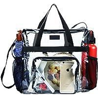 Clear Bag Stadium Approved, transparente Einkaufstasche und Clear Bag für das Fitnessstudio, für Arbeit, Sportspiele und…