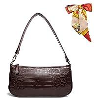 Retro Umhängetasche Bag,90s Umhängetasche Damen mit schickem Krokoprägung-Druck Crossbody Tasche,Damen Schultertasche…