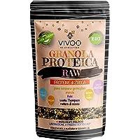 VIVOO RE-EVOLUTION | GRANOLA PROTEICA RAW - PROTEINE DI ZUCCA - gusto ZUCCA E ARANCIA| Biologico, Raw | Senza Zuccheri aggiunti | No: glutine, Latticini, Soia, OGM | Confezione 150 g cad.