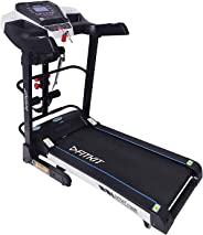 Fitkit Unisex Adult FT200 Series Motorized Treadmill With Auto Lubrication and Auto Inclination - Black, Medium