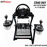 GT Omega Steering Wheel Stand PRO for Thrustmaster TMX racing wheel Xbox One & Pedals, Supporting TX, Xbox, Fanatec - Foldable, Tilt-Adjustable Design for Ultimate Simulator Gaming Experience